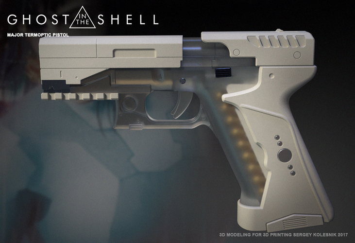 Ghost in the shell -Major termoptic pistol 3D Print 138418