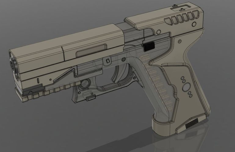Ghost in the shell -Major termoptic pistol 3D Print 138419