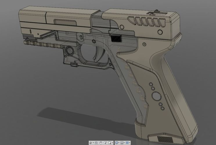Ghost in the shell -Major termoptic pistol 3D Print 138421