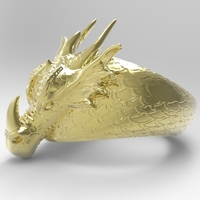 Small Dragon Ring 3D Printing 138424