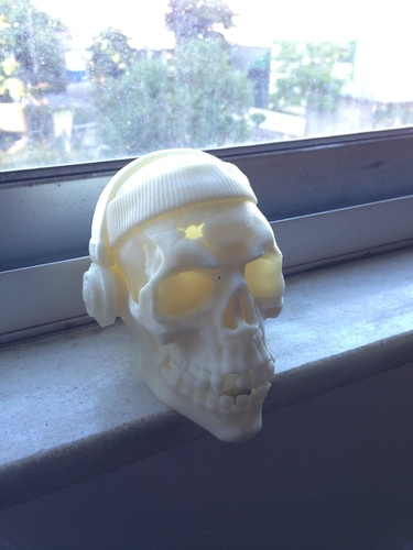 The Skull Headband and Headphones 3D Print 138478