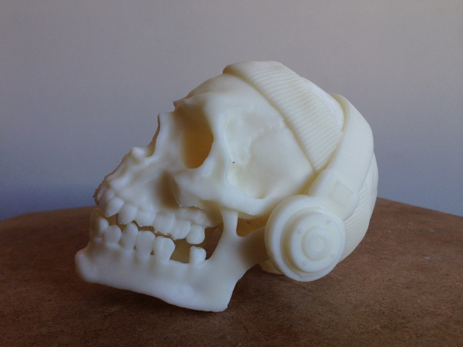 The Skull Headband and Headphones 3D Print 138479
