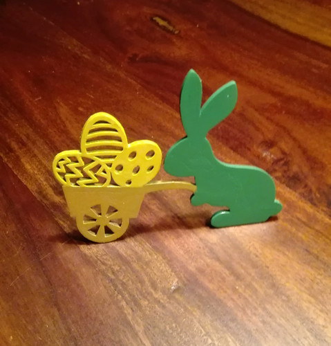 Easter bunny with trolley 3D Print 138494