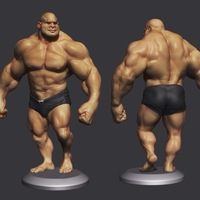 Small Bodybuilder - cartoon / stylized 3D Printing 138503