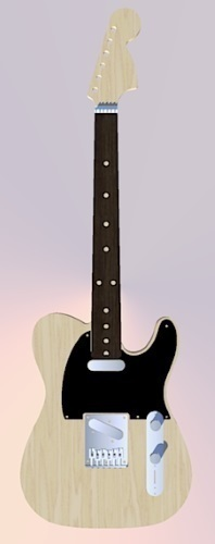 Fender Telecaster in perfect scale 1:4 fully 3D printable 3D Print 138521