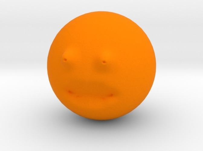 The annoying orange repaired 3D Print 13856