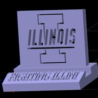 Small Illinois UIUC Fighting Illini Phone Stand (3 designs) 3D Printing 138563