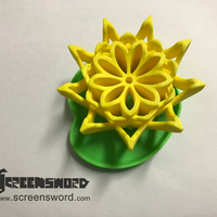 Small Lotus Dry Soap Dish 3D Printing 138573