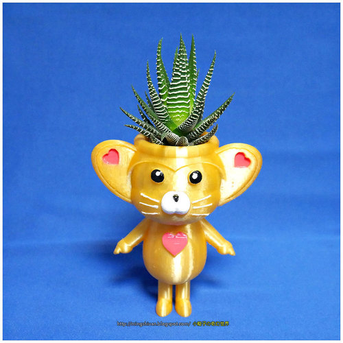Cute animal - lemur king potted 3D Print 138602