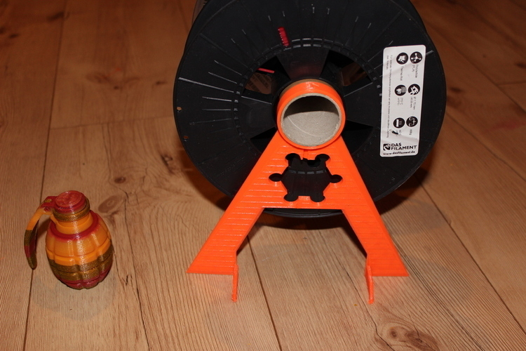 Prusa Mk2 Waste-recycle the Satanic Spool Holder 3D Print 138609