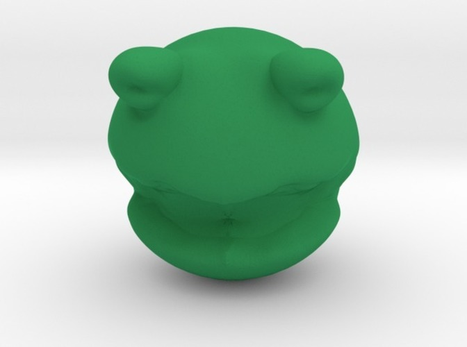 Rolly polly Kermit the frog head toy 3D Print 13862