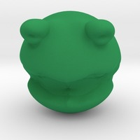 Small Rolly polly Kermit the frog head toy 3D Printing 13862