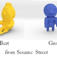 Small ernie, bert and grover from sesame street 3D Printing 13868