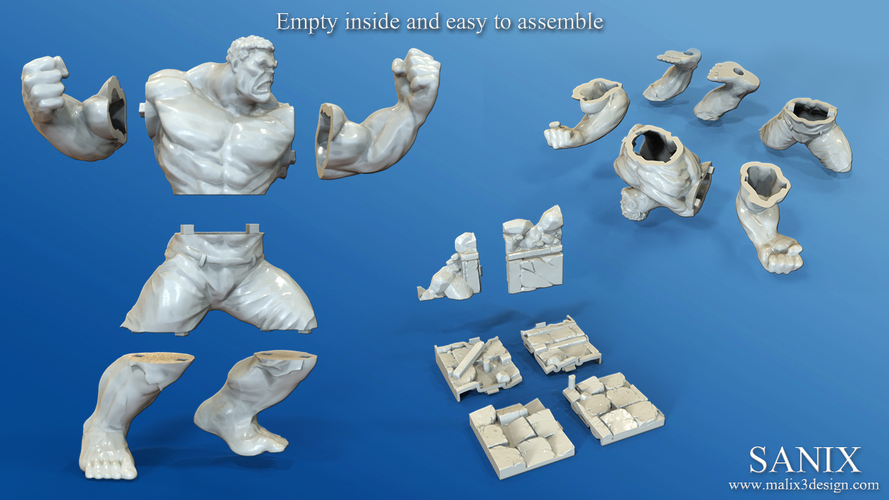 Avengers Scene- The Incredible Hulk  3d model for printing. 3D Print 138704