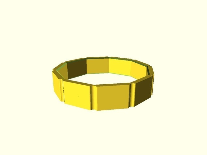 Outer Ring Customizer (OpenScad) 3D Print 138730