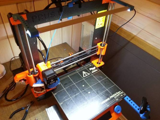 Prusa I3 MK2 LED bar holder 3D Print 138763