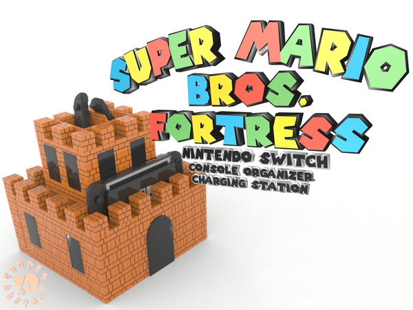 Medium Super Mario Fortress Console Organizer & Charging Station 3D Printing 138766