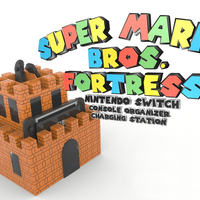 Small Super Mario Fortress Console Organizer & Charging Station 3D Printing 138766