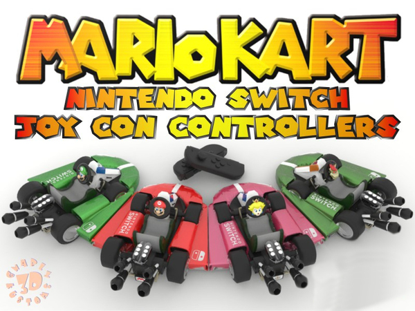 Medium Mario Kart Joy Con Controllers - #Nintendo Switch 3D Printing 138784