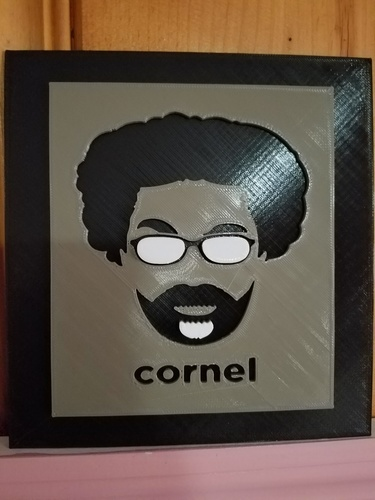 Cornel West Tribute Frame 3D Print 138812