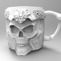 Small Skull cup 3D Printing 138815