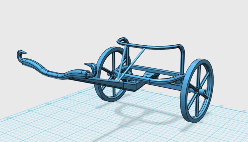 Egyptian Chariot 3D Print 138855
