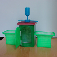 Small Desktop Planter/Allotment(British) with little shed 3D Printing 138856