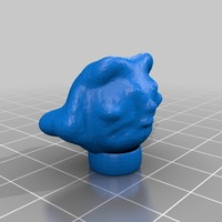 Small Egyptian cat head made on sculptris 3D Printing 13887