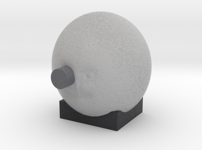 from the earth to the moon  man in moon with rocket in eye 3D Print 13891