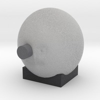 Small from the earth to the moon  man in moon with rocket in eye 3D Printing 13891