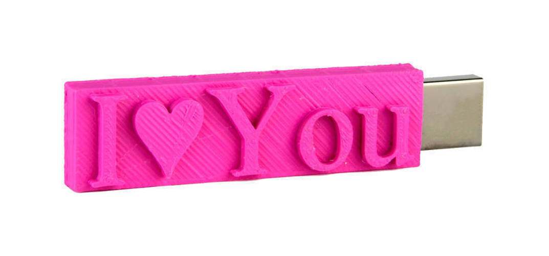 I♥YOU USB case - personalized 3D Print 138976
