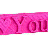 Small I♥YOU USB case - personalized 3D Printing 138976