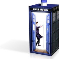 Small Second life one piece matt smith tardis 3D Printing 13899