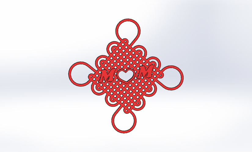 Cross knot-Gift for Mother's Day (2017) 3D Print 139003