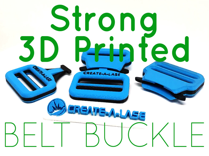 Quick Release Belt Buckle 3D Print 139042