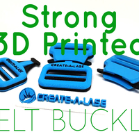 Small Quick Release Belt Buckle 3D Printing 139042