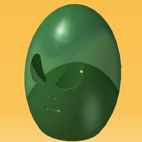 Small Easter Aliens Egg 3D Printing 139054