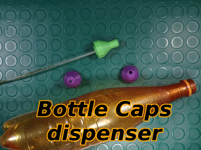 Bottle Caps Dispenser for Garden 3D Print 139068