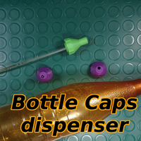 Small Bottle Caps Dispenser for Garden 3D Printing 139068