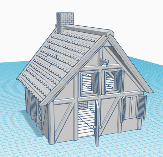 Simple Old House (Small Sized) 3D Print 139081