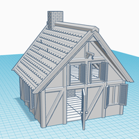 Small Simple Old House (Small Sized) 3D Printing 139081