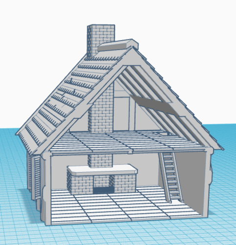 Simple Old House (Small Sized) 3D Print 139083