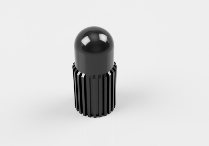 Valve Cap for French or Presta Valve with grip 3D Print 139099