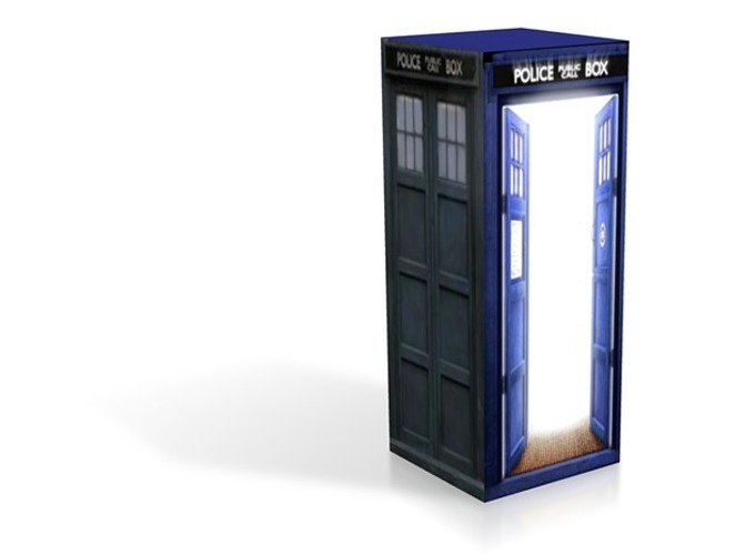 Tardis The light- daes and jpgs 3D Print 13911
