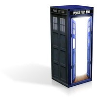 Small Tardis The light- daes and jpgs 3D Printing 13911