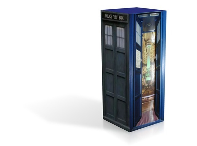 David Tennant tardis open - daes and jpgs 3D Print 13913