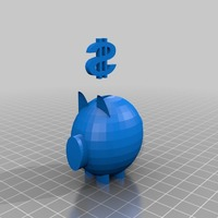 Small piggy bank model 3D Printing 13931