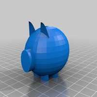 Small piggy bank model (1) 3D Printing 13932