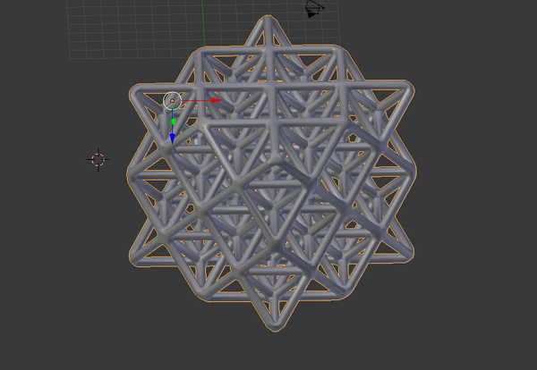 Medium Wireframe 64 Tetrahedron Grid 3D Printing 139322
