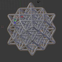 Small Wireframe 64 Tetrahedron Grid 3D Printing 139322